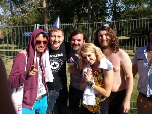 I met The Subways!